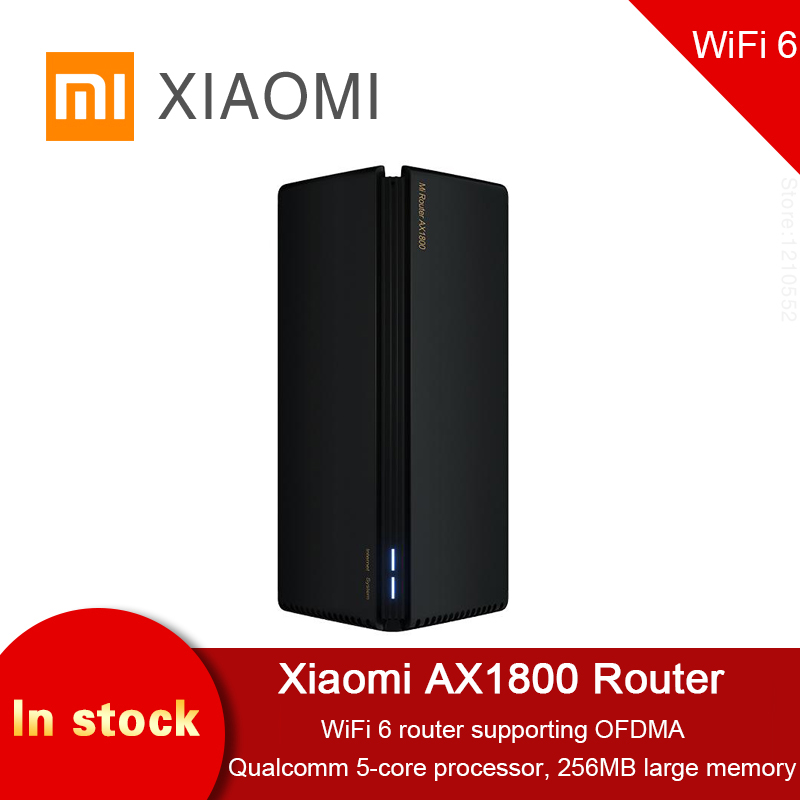 2020 новый беспроводной маршрутизатор Xiaomi AX1800 256 Мб 2,4G/5G OFDMA с высоким коэффициентом усиления полный гигабитный 2 антенны сетка WIFI двухчастотн...