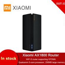 2020 New Xiaomi AX1800 Wireless Router 256MB 2.4G / 5G OFDMA High Gain Full Gigabit 2 Antennas Mesh WIFI Dual-Frequency Repeater