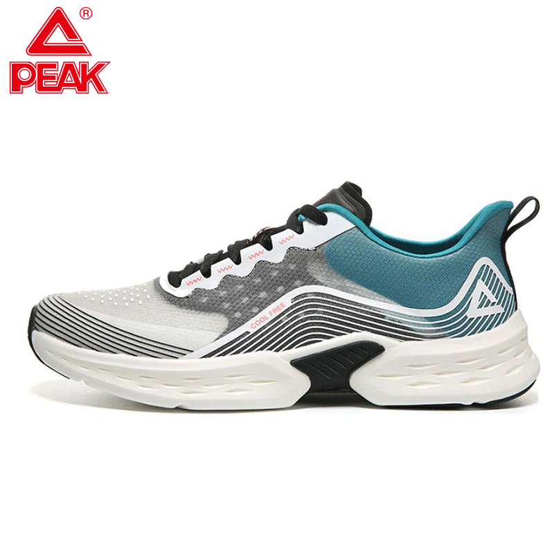 PEAK New Men & Women Breathable Running Shoes Outdoor Jogging Walking Shoes Lightweight Comfortable Training Shoes Sneakers