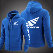 2020 Spring And Autumn Cardigan Men Honda Car Logo Tops Hoodies Jacket Print Punk Clothing Fashion Casual zipper Sweatshirt Coat
