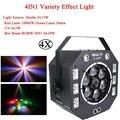Luz de discoteca LED 120W haz estroboscópico láser UV 4IN1 efecto de variedad sonido activado DMX512 fiesta DJ escenario boda navidad de la lámpara|Efecto de iluminación de escenario| |  -