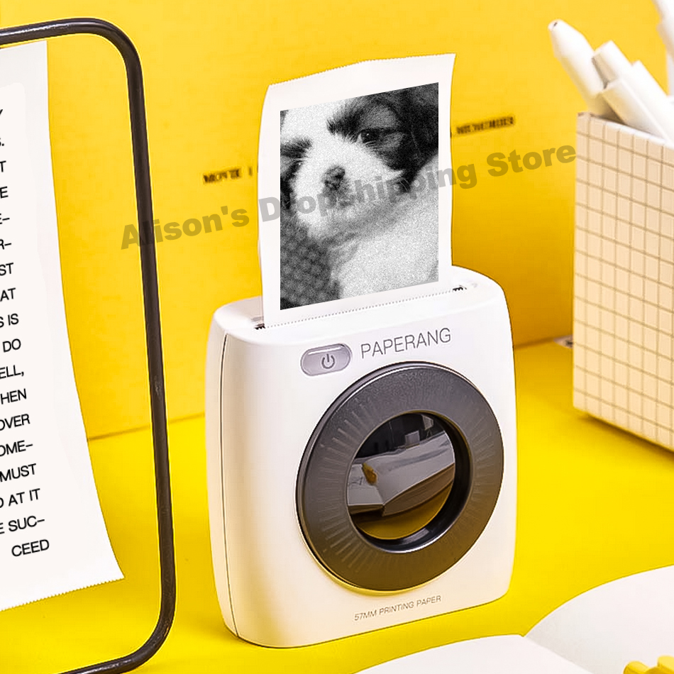 PAPERANG P2 White Mini Wireless Paper Label Photo Printer Portable Bluetooth Printer Child Painting Women Gift For IOS/Android