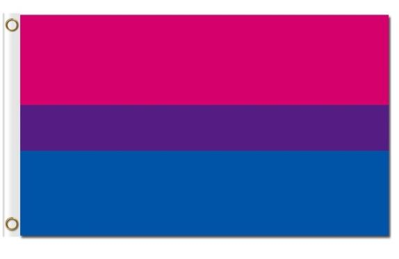 <font><b>Bisexual</b></font> <font><b>Pride</b></font> <font><b>Flag</b></font> custom Scary heart hobby business history banner 90x150cm image