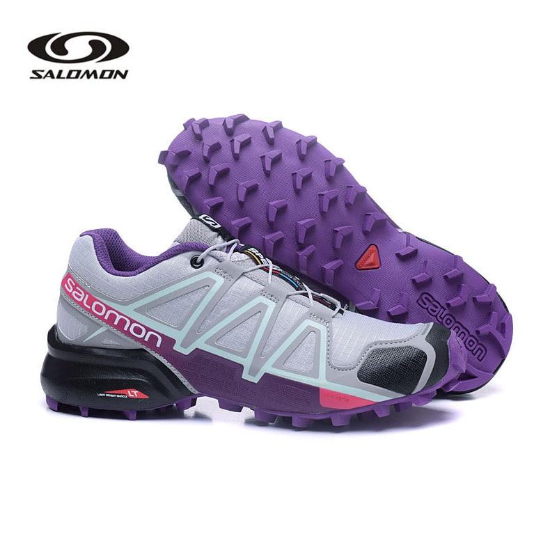 Women Salomon Speed Cross 4 Running Shoes Chaussure Homme Outdoor Sport Sneakers SpeedCross 4 CS Fencing Shoes