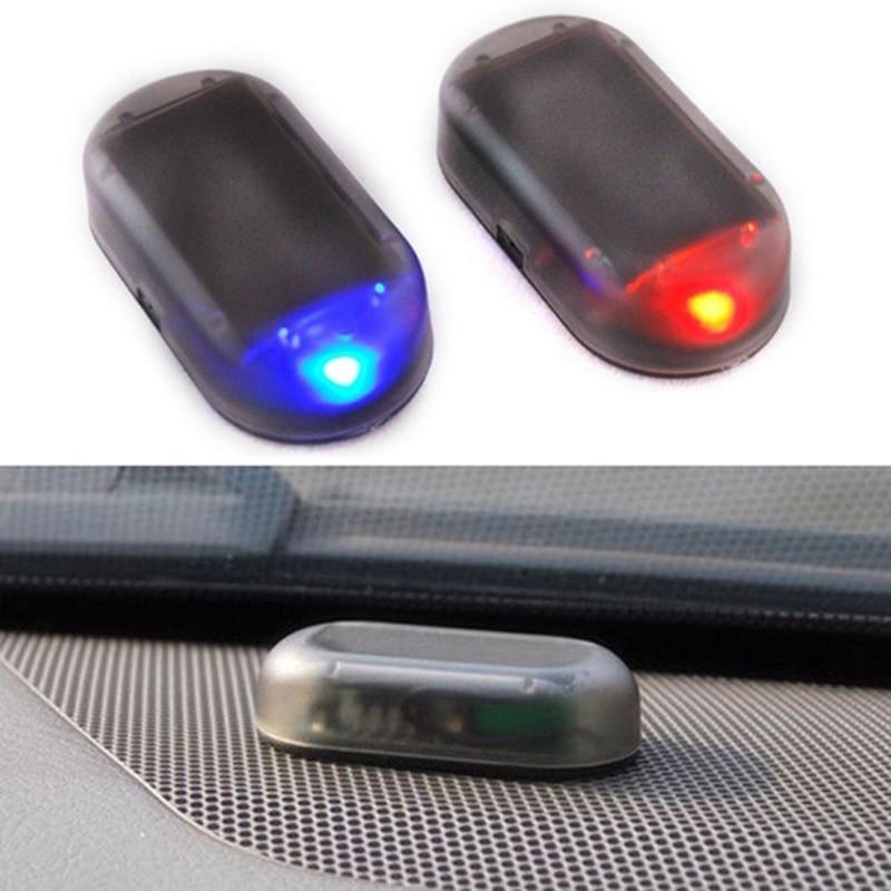 Car Fake Solar Power Alarm Lamp Security System Warning Theft Wireless Flash Blinking Anti-Theft Caution LED Imitation Lights