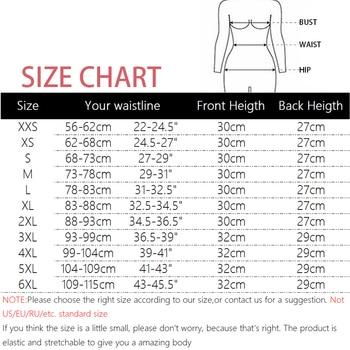 Women Latex Waist Trainer Body Shaper Corsets with Zipper Cincher Corset Top Slimming Belt Black Shapers Shapewear Plus Size
