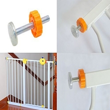 4Pcs/pack Steel Core Screw Bolt Nut Staircase Fence Fix Pets Baby Safety Sturdy Gate Bar Install Household Secure Accessory