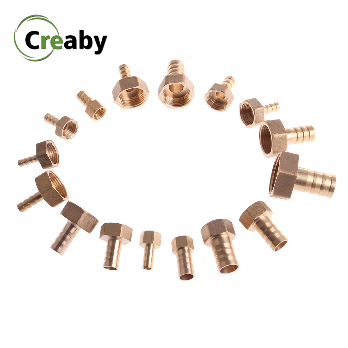 Brass Hose Fitting 6/8/10/12/14/16/19mm Barb Tail 1/8
