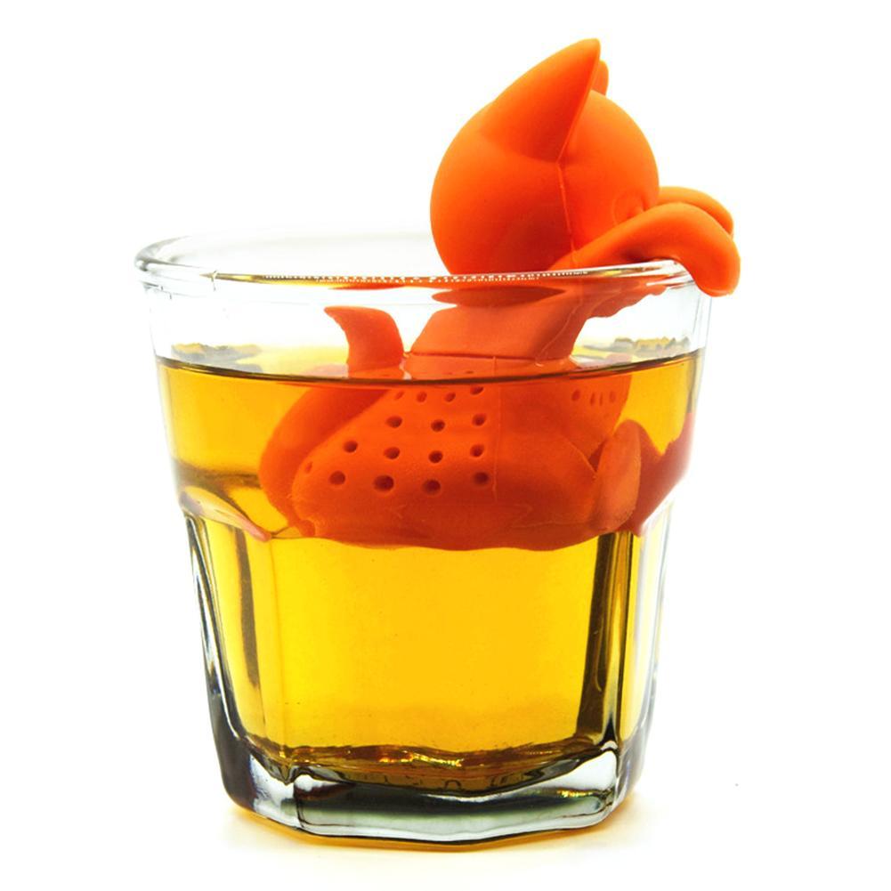מצחיק חיות מחמד תה Infuser שחור תה מסננת FDA כיתה סיליקון רופף עלה צמחים ספייס מסננת צמחים תבלינים מסנן מפזר