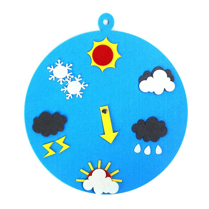 Baby Early Educational Clock Time Weather Learning Clock Cognitive Toys For Kids High Quality