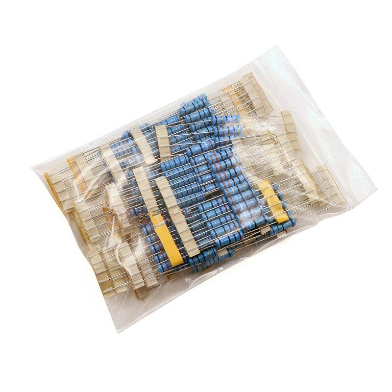 2W resistencia de película de Metal 30 valor surtido Conjunto 1K ohm-820K ohm anillo de resistencia de 1% Kit de surtido de 1k, 10K, 100K 1,5 K 15K 150K