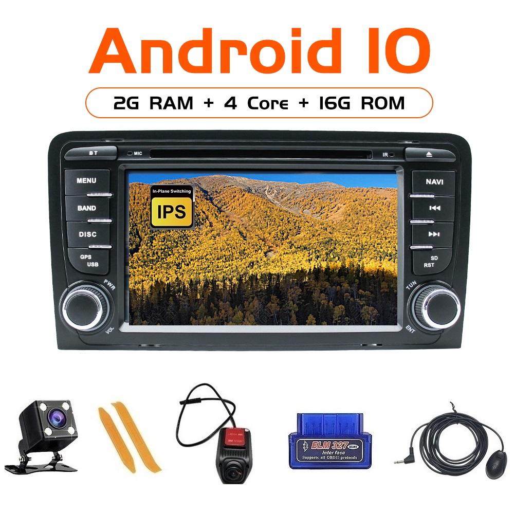 ZLTOOPAI Auto Radio Android 10 For Audi A3 S3 2002-2013 GPS Car Multimedia Player Camera OBD2 MIC Car Media Player 4Core