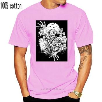 Nowy Zombie T-Shirt z nadrukiem dla dzieci chłopcy dziewczęta męskie halloween goth gothic bats2018 moda marka męska koszulka z krótkim rękawem T tanie i dobre opinie CASUAL SHORT CN (pochodzenie) COTTON Cztery pory roku Na co dzień Z okrągłym kołnierzykiem 2018 men women Sukno Drukuj