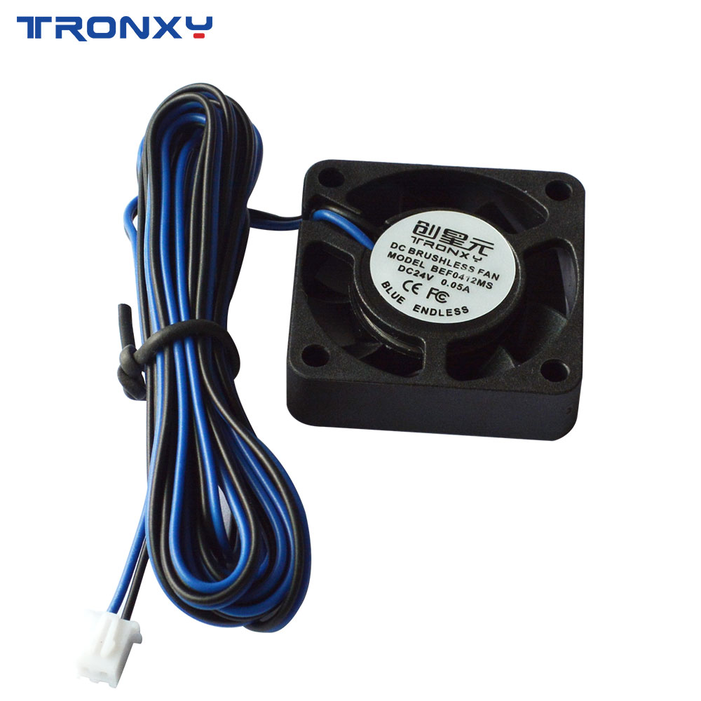Free shipping <font><b>4010</b></font> 24V Cooling Tronxy Fan Brushless 3D Printer Parts 2Pin For Extruder DC Cooler <font><b>Blower</b></font> Part Black Plastic Fans image