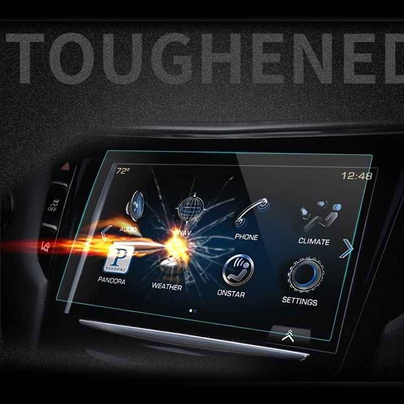 Novedad de 2018, película protectora de vidrio HD para pantalla de navegación GPS de coche para Hyundai Sonata 2018, accesorios internos, pegatinas para coche de 8 pulgadas