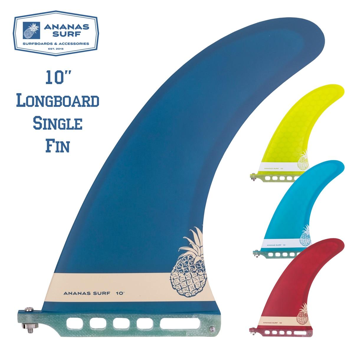 Surf Longboard Fins Multicolor Fiberglass Center Fin SUP 8 9 10 inch