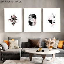 Marble Pattern Geometry Abstract Nordic Poster Prints Minimalist Wall Art Canvas Painting Modern Picture Home Decor