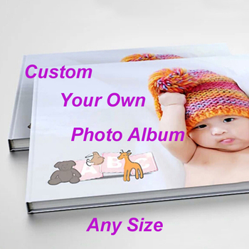 Custom Photo Album Picture for Baby Kids Wedding Family Travel Memory Personal  Home Decoration Hrdcover Book Binding Printing - sale item Books