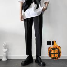 Зимний бархатный костюм большого размера брюки мужские тонкие