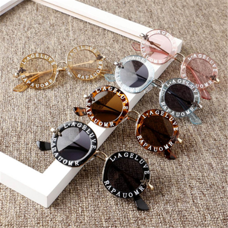 Summer Cute Children Girls Letter Sunglasses Frame Sunglasses ANTI-UV Protection Reflective Kids Beach Toys  Accessories Outdoor
