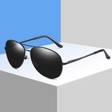 Vintage Men Aviation Polarized Black Sunglasses Metal Frame Driving Pilot Women Sun Glasses Driver Eyewear Goggles