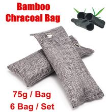 Bags Shoe-Deodorant Carbon-Air-Freshener Bamboo-Charcoal Activated 6pcs 75g Closets New