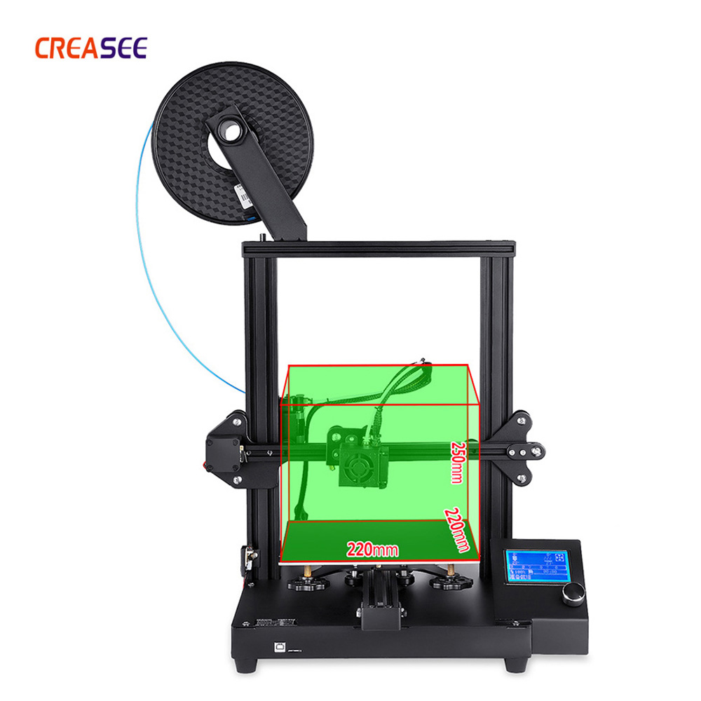 CREASEE CS20 Cheap 3D Printer Print Size 220*220*250mm DIY Kit Knob Screen High Precision 3D Printing Resume From Power Outage
