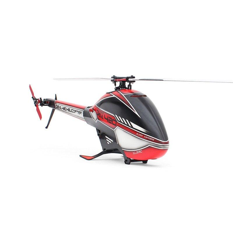 ALZRC Devil 420 FBL VELOCE 6CH 3D Rosso/Giallo/Verde Volare RC Elicottero Kit di Alta Qualità - 4