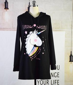 unicorn mother daughter sweashirt dresses mommy and me hoodies family matching clothes outfits look mom mum and baby girl dress 1