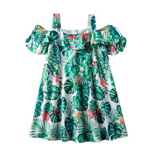 Летние платья для девочек детские Платья с цветочным принтом