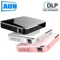 AUN мини-проектор X3, встроенный мультимедийный видеопроектор, поддержка зеркального отображения экрана мобильного телефона, 3D проектор для ...