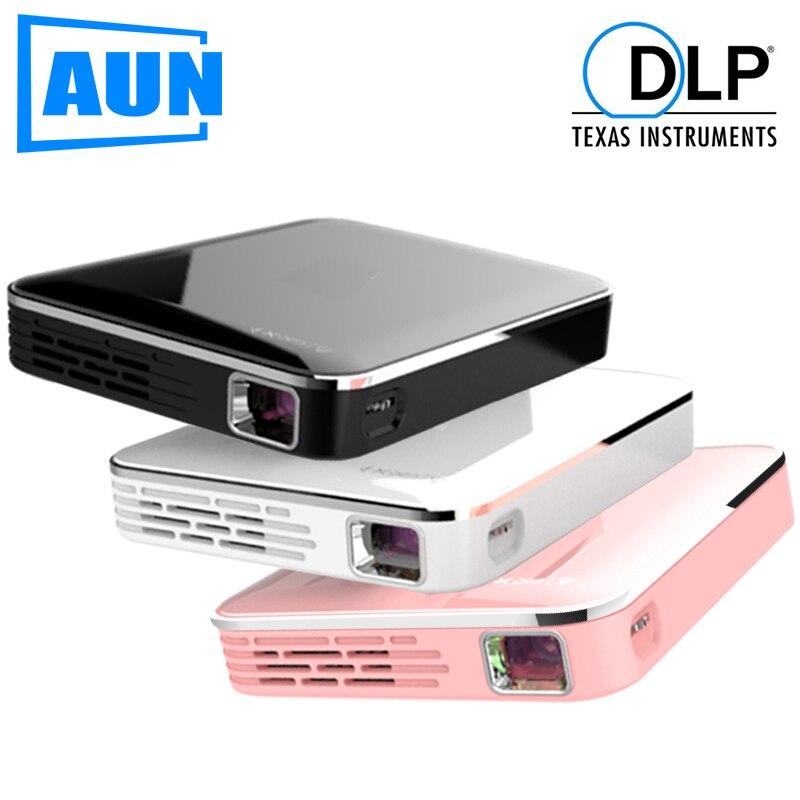 AUN MINI projecteur X3, système multimédia intégré projecteur vidéo, prise en charge de l'écran de téléphone portable, projecteur 3D pour 1080P