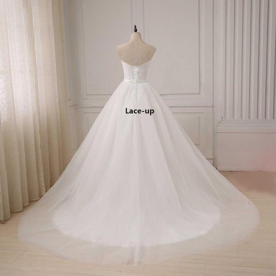 jiayigong günstige einfache hochzeit kleid top falten schatz sleevless  a-linie tüll braut hochzeit kleider vestido de noiva