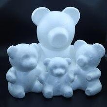 Multi-tamanho 1 peça de espuma de isopor urso branco artesanato bola diy festa de natal decoração presente
