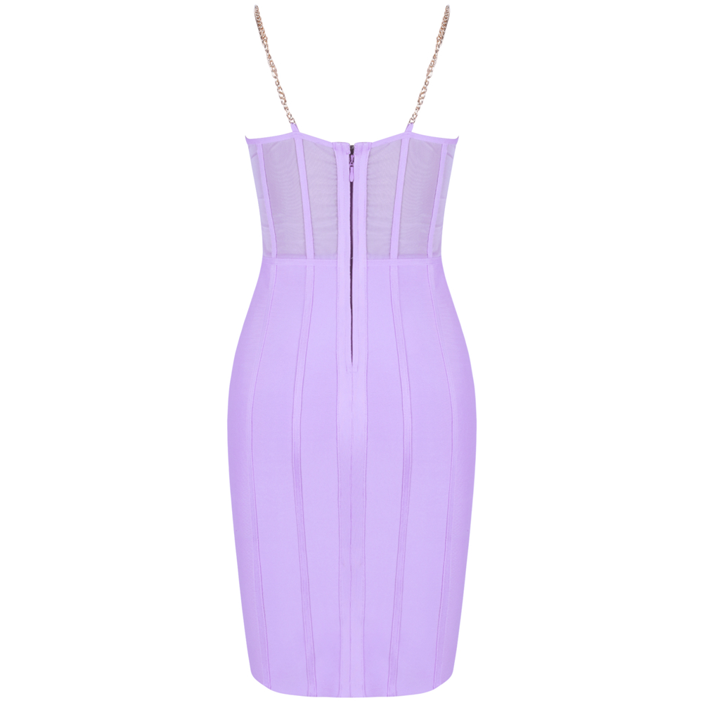 Image 5 - Ocstrade Vestido Bandage Midi Dress Autumn Winter 2020 New Women 