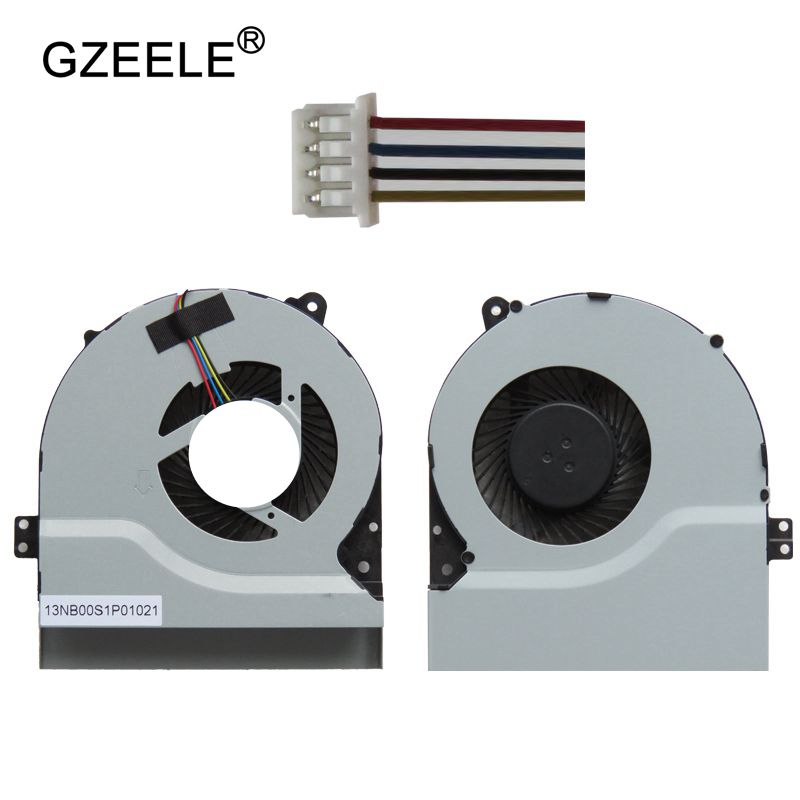 GZEELE Новый cpu охлаждающий вентилятор для ASUS X550V X450 X450CA X450vc A550 K550VC X550C F450C F450L F550C F550L A550 X450V F550V