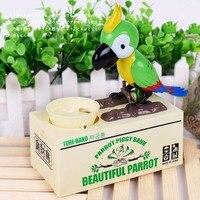 Cute Creative Eating Coin Bird Piggy Bank Parrot Money Box Kids Toys Electric Money Bank Home Decor Money Saving Gift for Kids