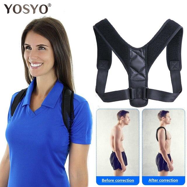YOSYOสนับสนุนรั้งเข็มขัดAdjustableกลับท่าทางCorrector Clavicleกระดูกสันหลังกลับไหล่เอวแก้ไข