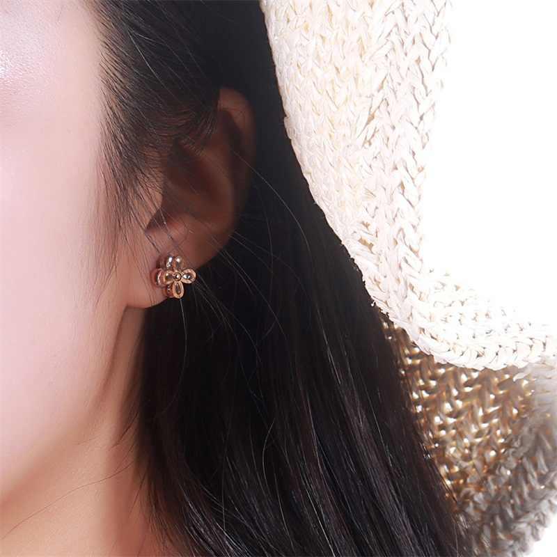 Aziz Bekkaoui Hoa Hồng Vàng Màu Sắc Tình Yêu Bông Tai Nữ Pha Lê Bông Tai Trang Sức Inox Cho Món Quà Sinh Nhật Cho Mẹ
