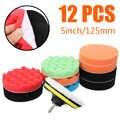 12 stks/set 125mm Buffing Spons Polijsten Waxen Pads Buffing Kit Voor Auto Polijstmachine Buffer Wax Verwijdert Krassen