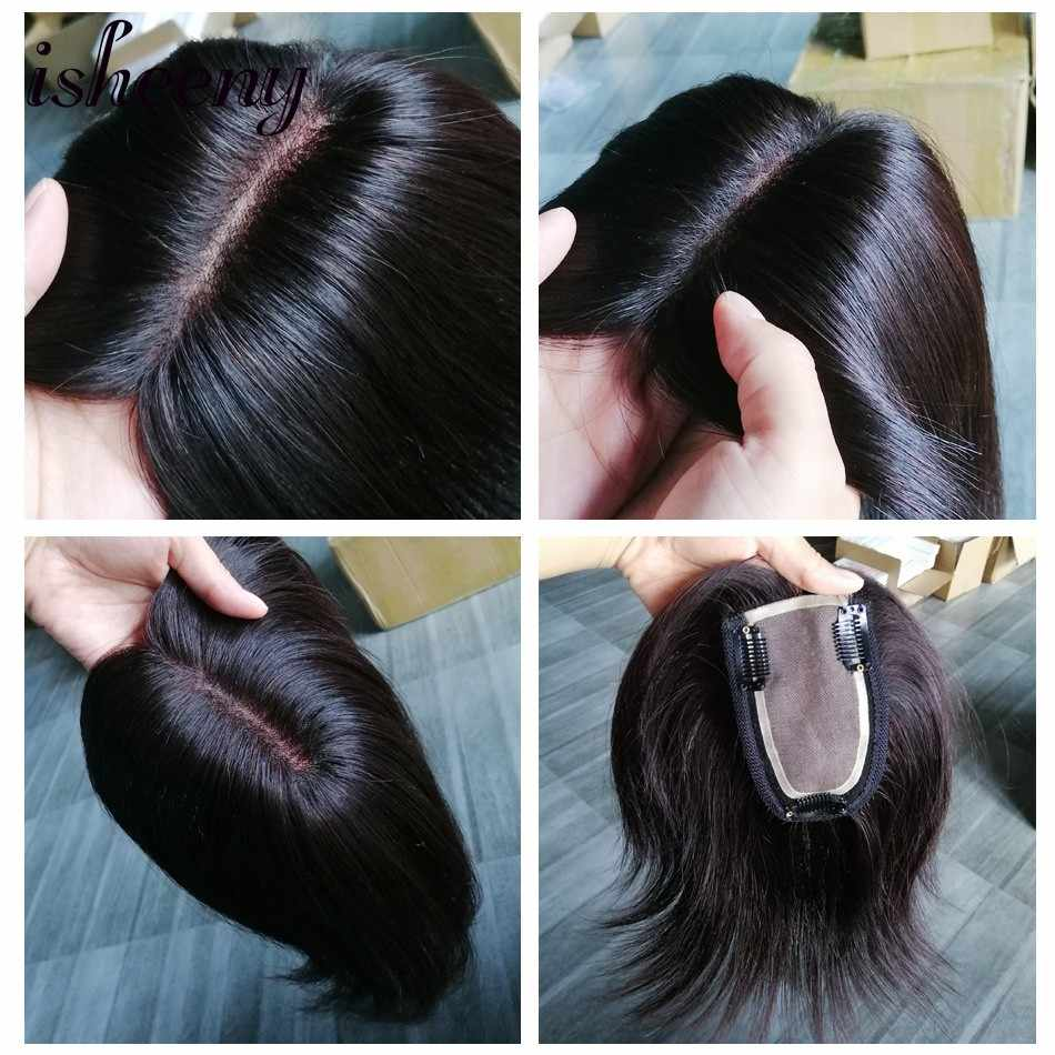 10 дюймов 7*12 remy заколки для волос в парик шиньоны прямые волосы короткая челка верхние закрытия шпильки для мужчин и женщин