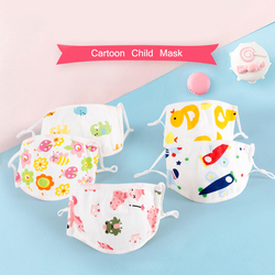Cotton Mask N95 Children Vertical Folding Non Woven Fabric Cartoon Mask Dust Mask Antibacterial Mouth Mask PM2.5 Respirator 2