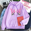 New mymelody dark women's hooded long-sleeved trendy gothic style plus cashmere winter Harajuku style hooded sweatshirt 3
