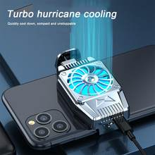 Universal mini ventilador de refrigeração do telefone móvel radiador turbo furacão jogo cooler telefone celular frio dissipador calor para iphone/samsung/xiaomi