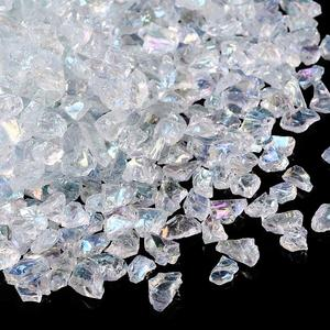 0.5-7mm No Hole Undrilled Transparent Glass Chip Stone Beads Irregular Loose for DIY Necklace Bracelet Jewelry Making Clear AB(China)