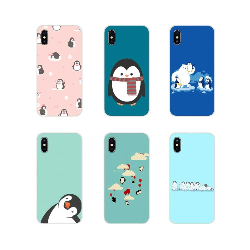 Transparan TPU Shell Cover untuk Huawei G7 G8 P7 P8 P9 P10 P20 P30 Lite Mini Pro P Smart PLUS 2017 2018 2019 Cute Indah Penguin