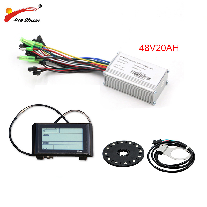 JS 48V 350W 500W DC Controller Set S900LCD Display Meter PAS Set E-bike Conversion Kit Dual Mode Hall Sensor And Hall Sensorless