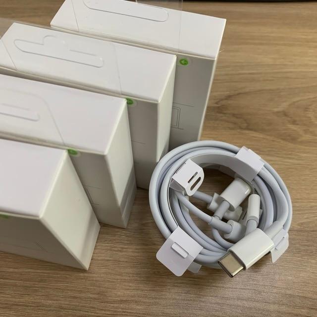 10 Cái/lốc PD Sạc Nhanh Usb C 1M 2M Dành Cho iPhone 12 11 Pro Max Xs 8 pin Sang Loại C Macbook Để Điện Thoại Có Hộp Bán Lẻ