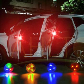 Red Magnetic Wireless LED Car Door Opening Warning Lights Waterproof Strobe Flashing Anti Rear-end Collision led Safety Lamps solar led security lights strobe lights simulation virtual alarm warning free wiring car traffic warning lights security lights