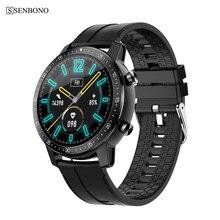 SENBONO 2020 hombres mujeres reloj inteligente S30 de monitor de actividad y sueño llamadas SMS recordatorio 360mAh Smartwatch para Android IOS